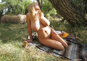 Huge Tits Outdoors